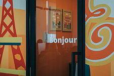 Bonjour! Come in.